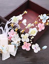 abordables -Tul / Perla Artificial Flores con Perlado Artificial 1pc Boda / Cumpleaños Celada
