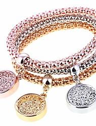 abordables -Femme 3pcs Charmes pour Bracelets Bracelets de rive - Mode Forme de Cercle Arc-en-ciel Bracelet Pour Soirée Cadeau
