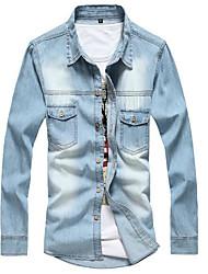voordelige -Heren Vintage Kwastje Overhemd Effen