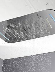 Недорогие -Современный Дождевая лейка Хром Особенность - LED / Для душа, Душевая головка