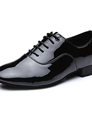 cheap -Men's Latin Shoes Leatherette Sneaker Low Heel Customizable Dance Shoes Black / Dark-Gray / Professional
