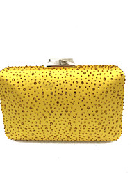 Недорогие -Жен. Мешки Сатин / атлас Металл Вечерняя сумочка Кристаллы для Свадьба Для праздника / вечеринки Официальные Все сезоны Желтый Пурпурный