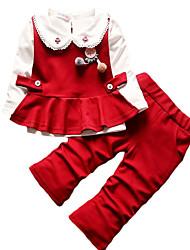 cheap -Kids Girls' Color Block Long Sleeves Clothing Set