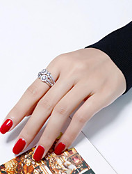 cheap -Women's Cubic Zirconia Statement Ring - Silver Plated, Gold Plated European, Fashion 5 / 6 / 7 Gold / Silver For Party / Gift