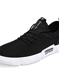 cheap -Men's Shoes PU Spring / Fall Comfort Sneakers Black / Gray / Red