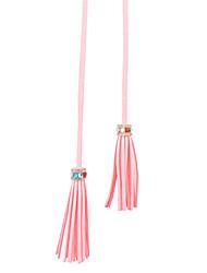 cheap -Women's Cute Cubic Zirconia Alloy Skinny Belt - Solid Colored Tassel