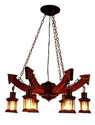 cheap -6-Light Industrial Chandelier Ambient Light - Mini Style, 110-120V / 220-240V Bulb Not Included / 5-10㎡ / FCC / E26 / E27