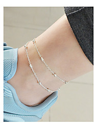 cheap -Beaded Anklet - Double Layered, Vintage Gold / Silver For Daily / Holiday / Women's