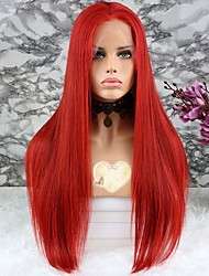 Недорогие -Не подвергавшиеся окрашиванию Лента спереди Парик Бразильские волосы Прямой Парик Стрижка каскад 130% Плотность волос с детскими волосами раскраска Нейтральный Жен. Короткие Средние Длинные