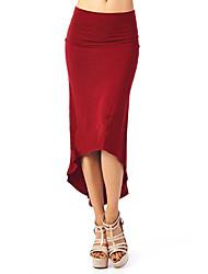 baratos -Mulheres Moda de Rua Bodycon Saias - Sólido
