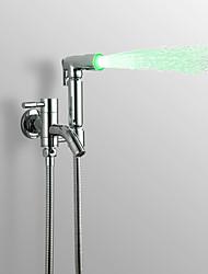 Недорогие -Современный Ручная душевая лейка насадки для смесителей Хром Особенность - Дождевая лейка, Душевая головка