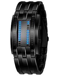 Недорогие -Муж. электронные часы Нержавеющая сталь Черный / Серебристый металл 30 m Секундомер Цифровой На каждый день - Черный Серебряный Один год Срок службы батареи / SSUO LR626
