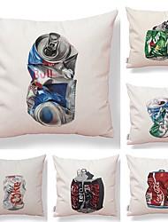 baratos -6 pçs Téxtil Algodão / Linho Fronha Cobertura de Almofada, Estampado Inovador Animais Criativo