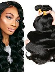 cheap -Malaysian Hair Wavy Natural Color Hair Weaves / Human Hair Extensions Human Hair Weaves Extention / Hot Sale Natural Black All
