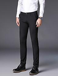 billige -Herre Forretning Pæne bukser Bukser Ensfarvet