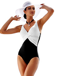 cheap -Women's One Piece Swimsuit Breathable, Compression, Comfortable Tactel / Fleece Swimwear Beach Wear Bodysuit Swimming / High Elasticity
