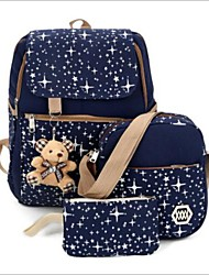 cheap -Women's Bags Terylene Bag Set 3 Pcs Purse Set Bear for Going out Red / Dark Blue / Purple
