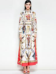 abordables -Femme Mignon Bohème Balançoire Robe Couleur Pleine Maxi
