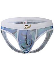 baratos -Homens G-string Underwear Cuecas Estampa Colorida camuflagem Cintura Média