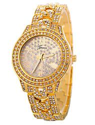 baratos -Mulheres Relógio de Moda Chinês Relógio Casual Lega Banda Luxo / Fashion Prata / Dourada / Ouro Rose