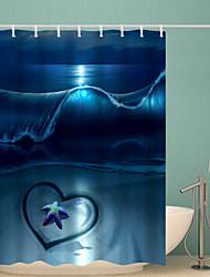 Недорогие -Занавески и крючки Современный Полиэстер Новинки Водонепроницаемый Ванная комната