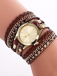 Недорогие -Жен. Модные часы Китайский Повседневные часы PU Группа Богемные / Цветной Черный / Белый / Серебристый металл / Один год