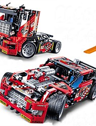 cheap -Race Truck Car 2 In 1 Transformable Model Building Blocks 608pcs Vehicles Exquisite Truck / Race Car Boys' Gift