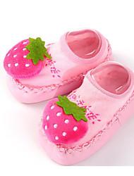 baratos -Para Meninas Para Meninos sapatos Tecido Primavera Outono Primeiros Passos Conforto Rasos para Casual Roxo Azul Rosa claro