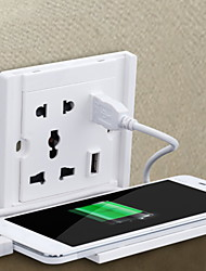 cheap -Smart Power Perch Wall Outlets (Socket) Indoor Convenient Storage Easy to Use Home And Office 1pack ABS Wall Mounted ON / OFF