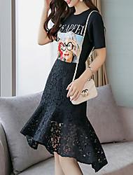 povoljno -Žene Majica - Geometrijski oblici Suknja