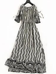 cheap -Miss French Women's Cute Swing Dress - Striped