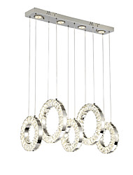 cheap -ZHISHU 9-Light Cluster Chandelier Ambient Light - Crystal, Mini Style, Multi-shade, 220-240V, Warm White+White, LED Light Source Included