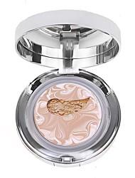 billiga Ansikte-1pcs Foundation Torr Mineral Pressat puder Långvarig Anti-UV Naturlig Omvård Allmänt bruk # varaktig Smink