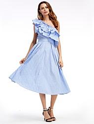 cheap -SHE IN SUN Women's Basic A Line Swing Dress - Striped, Lace