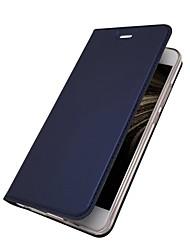 abordables -Coque Pour Huawei P10 Lite P10 Plus Porte Carte Avec Support Clapet Magnétique Coque Intégrale Couleur Pleine Dur faux cuir pour P10 Plus