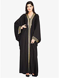 cheap -BENEVOGA Women's Sophisticated Street chic Shift Swing Abaya Dress - Solid Colored Striped, Lace up