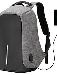 povoljno -Muškarci Uniseks Torbe Oxford tkanje Školska torba Patent-zatvarač za Kauzalni Vanjski Sva doba Crn Red Sive boje