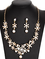 cheap -Women's Jewelry Set - Imitation Pearl Flower Sweet, Elegant Include Gold / Silver For Wedding / Evening Party