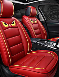 cheap -ODEER Seat Covers Red PU Leather Cartoon for universal All years All Models