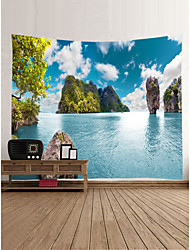 cheap -Garden Theme Landscape Wall Decor 100% Polyester Contemporary Classic Wall Art, Wall Tapestries Decoration