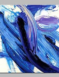 Недорогие -Hang-роспись маслом Ручная роспись - Абстракция Современный холст