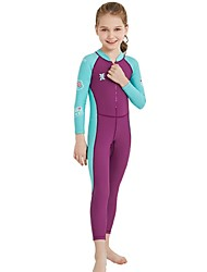 cheap -Girls' Rash Guard Dive Skin Suit SPF30, UV Sun Protection, Quick Dry Nylon / Spandex Full Body Swimwear Beach Wear Diving Suit Patchwork Front Zip Swimming / Diving / Surfing / UPF50+