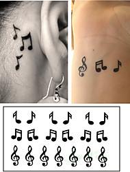 economico -10 pcs Tatuaggi adesivi Tatuaggi temporanei Serie di cartoni animati arti del corpo braccio