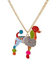 Недорогие -Муж. Цветной Собаки Ожерелья с подвесками  -  Животные Цветной Рок Цвет радуги 65cm Ожерелье Назначение Профессиональный стиль Свидание