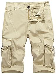 baratos -Homens Militar Tamanhos Grandes Algodão Solto Shorts Chinos Calças - Sólido
