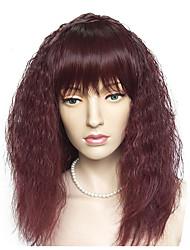 Недорогие -Парики из искусственных волос Кудрявый Стрижка боб / Стрижка каскад Искусственные волосы Природные волосы Красный Парик Жен. Длинные