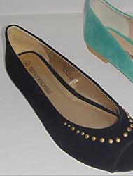 povoljno -Žene Cipele Sintetika, mikrofibra, PU Proljeće Jesen Balerinke Udobne cipele Ravne cipele Ravna potpetica Peep Toe za Kauzalni Crn Zelen