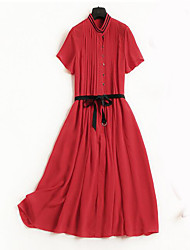 cheap -Miss French Women's Simple Street chic Swing Dress - Solid Colored
