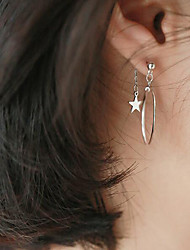 cheap -Drop Earrings - Sterling Silver Star Simple, Korean, Sweet Silver For Gift / Daily