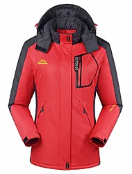 cheap -Women's Hiking Jacket Outdoor Winter Windproof Rain-Proof Waterproof Zipper Wearable Breathability Winter Jacket Top Full Length Visible